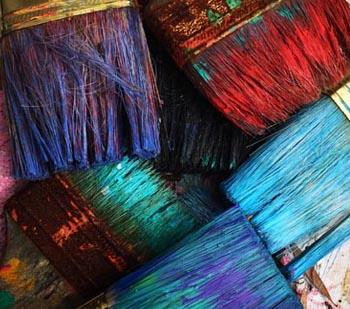 Startseite von Malerbetrieb Schiffert farbige Pinsel
